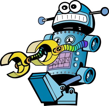 retro robot: crazy robot