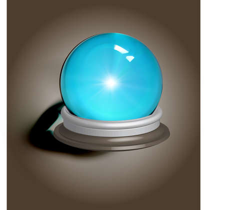 foretell: vectorial illustration of a magic crystal ball, EPS-10 format