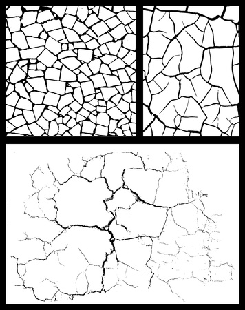 cracked wall: cracked background set