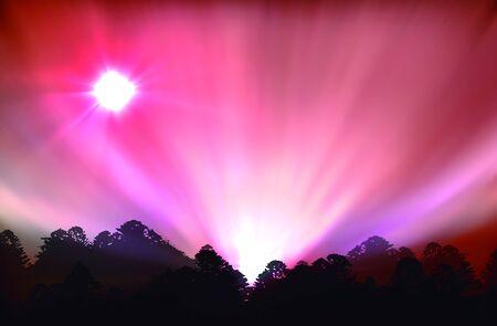 vectorial illustration of aurora polaris, Illustration