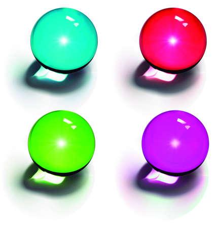 chrome base: Vettoriali sfere di cristallo Vettoriali