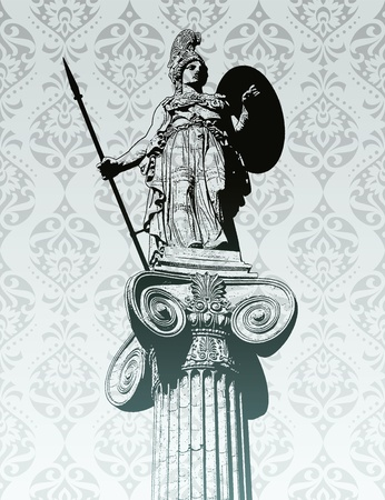 the greek goddess: Statue of Athena