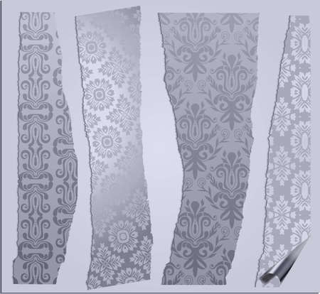 gothic revival style: cracked wallpapers set