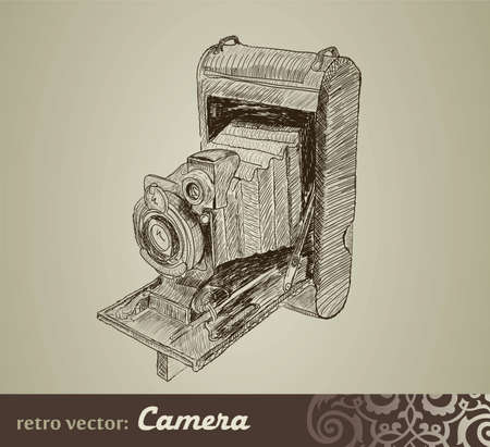 Old camera Stock Vector - 12900386