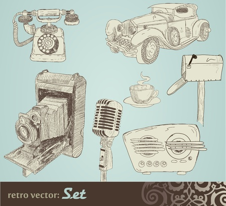 music machine: retro doodle set
