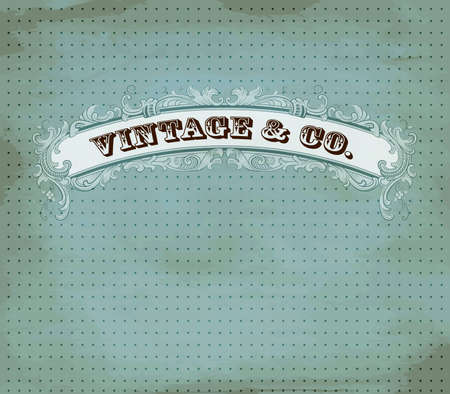 Vintage dot card Stock Vector - 12900740