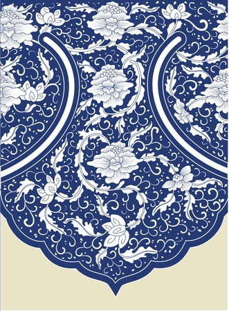 chinese pattern:  doodle cute decorative