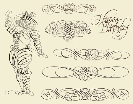 Calligraphic and ornamental designs
