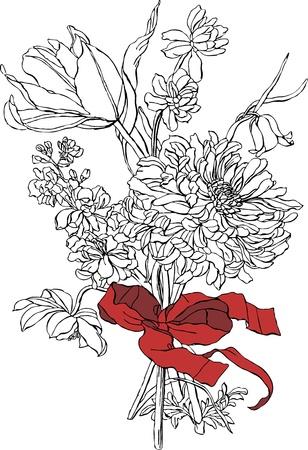 Bunch of flowers Stock Vector - 12900778