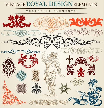 victorian style: calligraphic elements