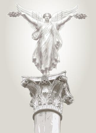 greek god: musa de la estatua Vectores