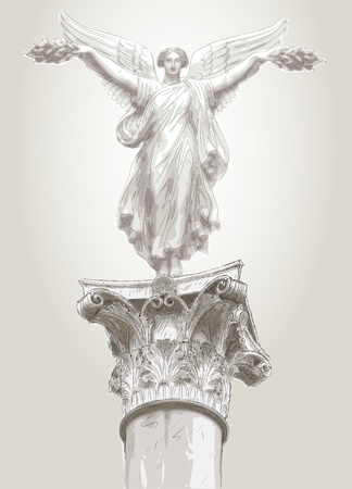 the greek goddess: muse statue