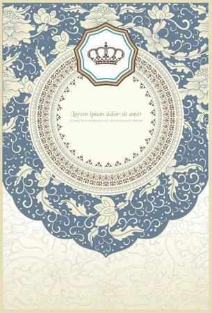 baroque card Stock Vector - 13013149