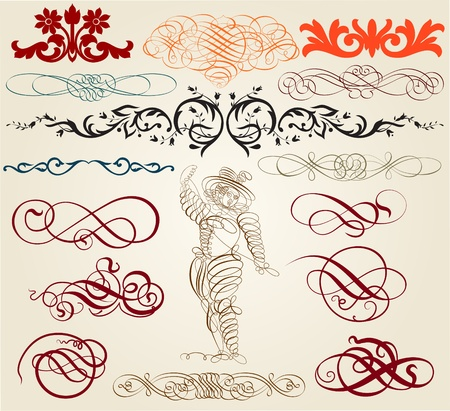 calligraphic elements Stock Vector - 13013136