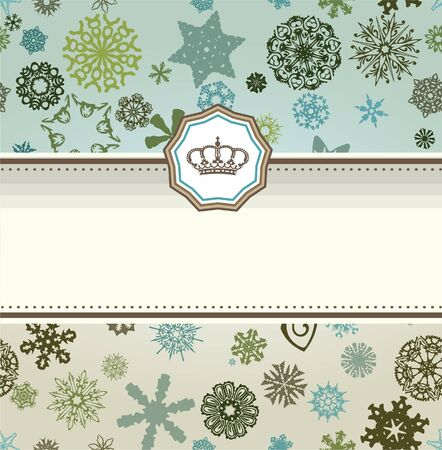 snow queen: Retro card