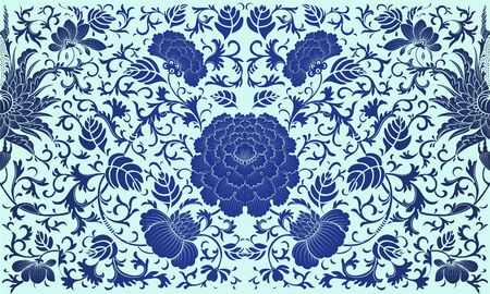 baroque pattern: Retro background