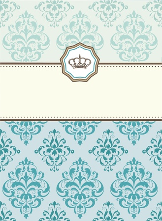 baroque card Illustration