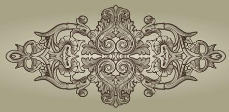 barok ornament: Ornament element