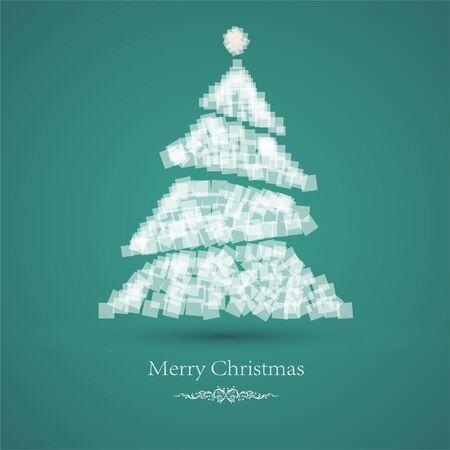 Christmas tree card Stock Vector - 13136194