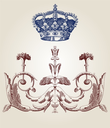 old paper texture: Design ornament