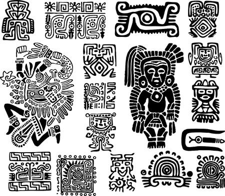 Set mexican symbols Illustration