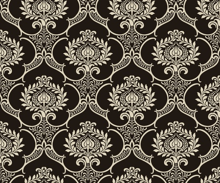 drapery: Damask wallpaper
