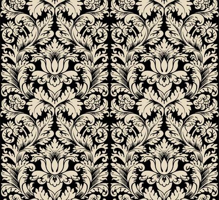Damask semless silk Stock Vector - 13188785