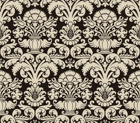 contrast floral: Vintage pattern