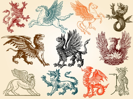 lion with wings: Mythical animals