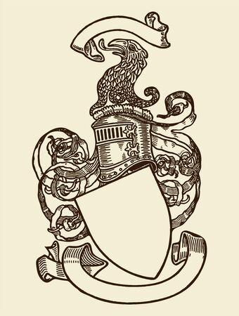 Heraldry shield Stock Vector - 13219381
