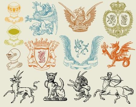 armory: heraldic set