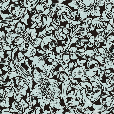 leafs: floral pattern Illustration