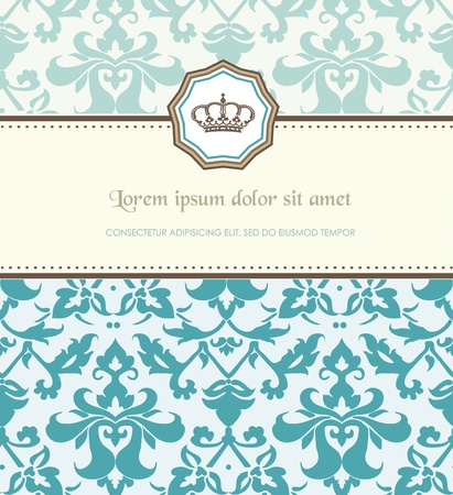 royal frame: Retro card