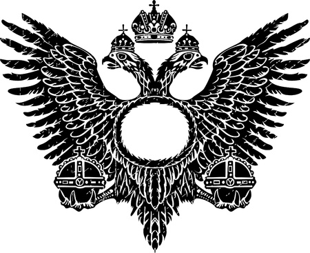 cross and eagle: Baroque double headed Illustration