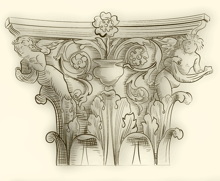 Classic column sketch Vector
