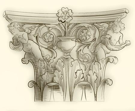 márvány: Klasszikus oszlop sketch
