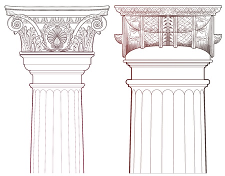 Design Elements - Ancient Column set Vector
