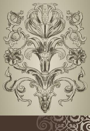 Floral sketch Illustration
