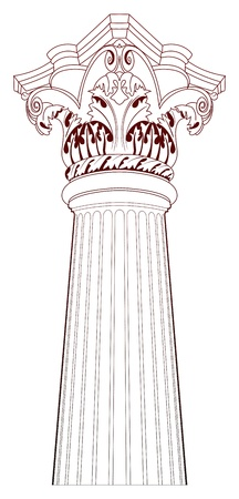 Design Elements - Ancient Column Vector