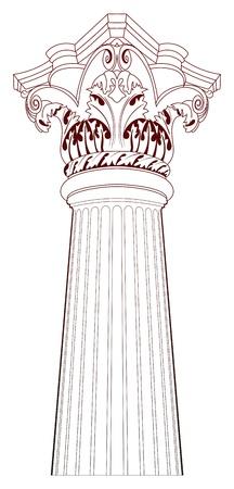 columnas romanas: Elementos de diseño - Columna antigua Vectores