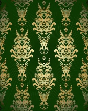 ornamental design: retro background in retro style