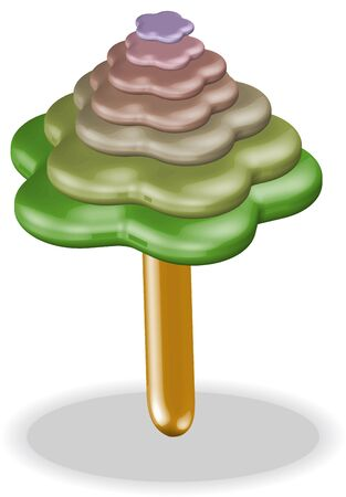 illustration 3D tree Stock Vector - 13528693