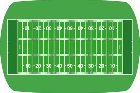American soccer field Stock Vector - 13528669