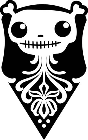Illustration of skull in retro style Vector