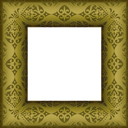 Old beautiful ornated golden antique frame Stock Vector - 13654455