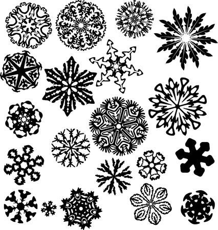 snowflake set: snowflakes set Illustration