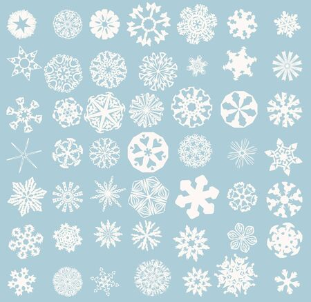architectonic: Snowflakes set