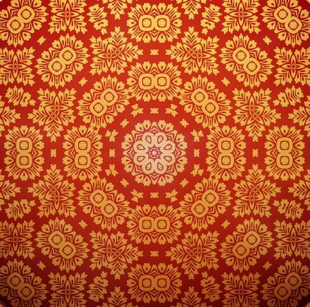 Seamless wallpaper Stock Vector - 13757907