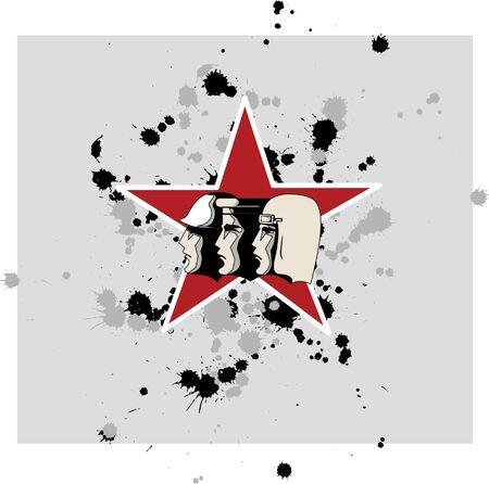 illustration in soviet style Stock Vector - 13843208
