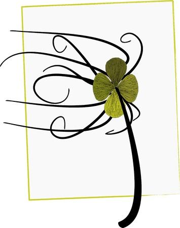 leafed: illustration of four leaf clover Illustration